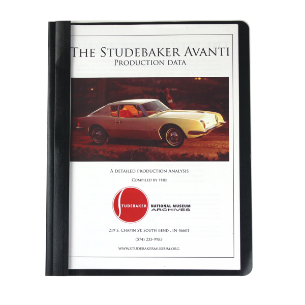 Studebaker Avanti Monograph